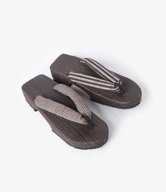 184e5b95994f NEEDLES GETA SANDALS WITH AIZU-TSUMUGI THONG