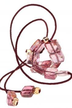 TURMALIN Armband rosé vergoldet