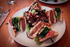 The triple-decker Club at Real Food Daily #vegan