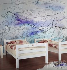 Wall Mural Mountains wall mural • Inspirations • PIXERSIZE.com