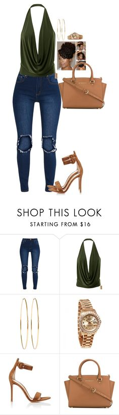 """""""Lunch for Two"""" by mikamik on Polyvore featuring Jennifer Meyer Jewelry, Rolex, Gianvito Rossi and MICHAEL Michael Kors"""