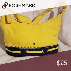 Tommy Hilfiger Yellow and Blue Tommy Hilfiger handbag Tommy Hilfiger Bags Mini Bags