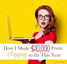 How I Made $10,000 From Blogging | If you are curious as to how I make money with my blog and which sites I use to make money, then this post is for you!