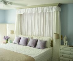 1000 images about instead of headboard on pinterest - What to use instead of a headboard ...