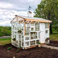 Things to Consider When Building an Aviary Diy Greenhouse Plans, Backyard Greenhouse, Old Window Greenhouse, Pallet Greenhouse, Homemade Greenhouse, Dream Garden, Home And Garden, Reclaimed Windows, Recycled Windows