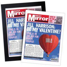 Personalised Valentines Spoof Newspaper