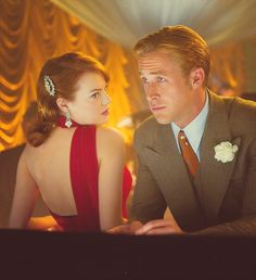 Grace Faraday & Sgt. Jerry Wooters (Emma Stone & Ryan Gosling) Gangster Squad (2012)