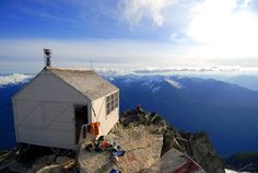 This looks like a fine place to clear one's head ( Fire Lookout in the Cascade Mountains of WA ).