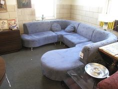 Sectional Couch. $1200 justed reduced to $900 in 17 Brook St, Staten Island, NY 10301, USA ~ Apartment Therapy Classifieds The Jetsons, Staten Island, Store Hours, Apartment Therapy, Vintage Furniture, Couch, Usa, Modern, Home Decor
