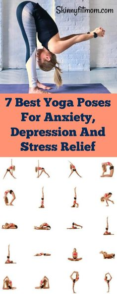 Awesome yoga poses to heal anxiety and depression. Also, get relief from stress. #yoga #stressrelief #YogaPoses
