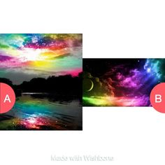 Which colorful art
