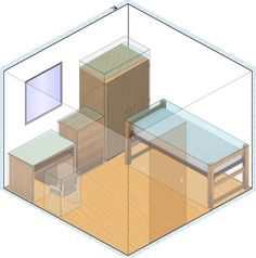 Feng Shui Single Dorm Layout lol innnnteresting
