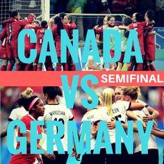Olympic semifinal Canada vs Germany  Canada vs Germany   #olympics #canada #germany #rio2016 #olympicsoccer #womens #womenssoccer Olympic Football, Olympics, Germany, Canada, Movies, Movie Posters, Films, Film Poster, Popcorn Posters