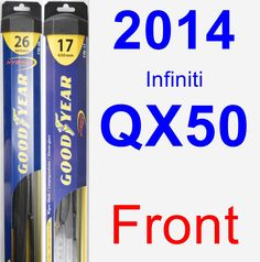 Front Wiper Blade Pack for 2014 Infiniti QX50 - Hybrid