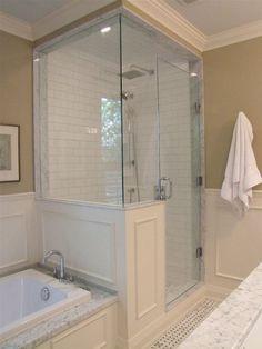 60 adorable master bathroom shower remodel ideas (6)