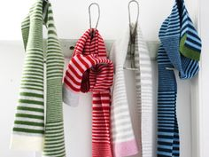 Bold stripe scarves in 2 and 3 colors, for children