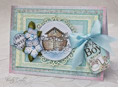 New baby card using Heartfelt Creations Sweet Lullaby collection. Made by Liz Walker