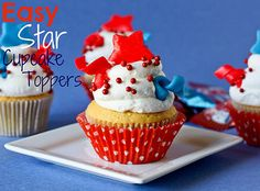 Easy Star Cupcake Toppers!!