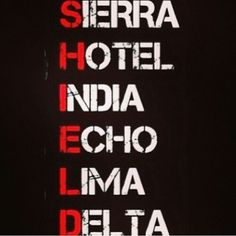 BTW FYI When you hear the voices saying Sierra, Hotel, India... That is really the members of The Shield saying that. #BelieveThat