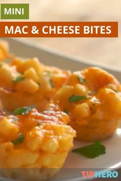 Mini Mac & Cheese Bites   Looking for a fun and easy game-day appetizer that is sure to win over fans. Try these mini Mac n Cheese bites! #recipes #familydinner #appertizers