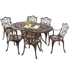 Amazon.com : Best Selling Haitian Cast Aluminum Outdoor Dining Set, Set of 7 : Outdoor And Patio Furniture Sets : Patio, Lawn & Garden - $1354.11