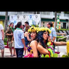 Echoes of Hawaii Meet and Greet at The Surfcomber, South Beach, Miami! www.echoesofhawaii.com #hula #hawaiian #miami #dance #dancer #fire #polynesian #entertainment #hire #florida