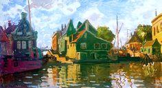 Zaandam, Canal, 1871 - Claude Monet