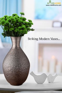 #MaddHome #HomeDecor #DecorativeVases  Modernize your decor with these classic vases  Grab It Now:- https://www.maddhome.com/decorative-vases/hammered-patterned-iron-zinc-vase.html