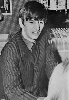 Ringo shakes hands with fans at a meet and greet after a special fanclub performance at the Wimbledon Palais on 14 December Scan from Beatles Book Monthly No. John Lennon Beatles, The Beatles, Beatles Books, Richard Starkey, All My Loving, Band Pictures, British Invasion, The Fab Four, Saddest Songs