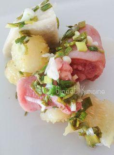 massissis et viande salée à la sauce chien - cuisine créole, cuisine de Martinique