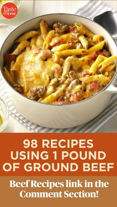 Ground Beef Dishes, Ground Meat Recipes, Hamburger Meat Recipes, Minced Beef Recipes Easy, Beef Meals, Sausage Recipes, Ground Chuck Recipes Dinners, Ground Beef Pasta, Hotdish Recipes