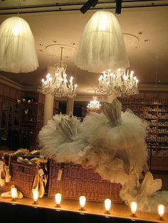 Paris ballet shop-The beauty of display by the French.  Could anything be more lovely?