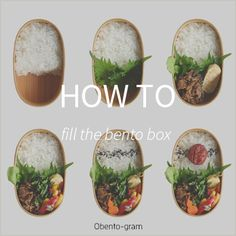 How to fill the bento box Steps for Japanese style bento box お弁当の詰め方 Bento Box Lunch, Lunch Boxes, Japanese Style, Japanese Food, Chicken Balls, Kawaii Bento, Rice Ball, How To Make Sushi, Food Pack