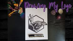 """I am pleased to announce that I have, at last, made my first ever YouTube video! 😄  The video is a """"speed art"""" of me drawing my Emily Raven Crafts logo, with a cracking intense symphonic metal cover soundtrack to accompany. Read more on my blog... #speedart #logo #drawing #art #emilyravencrafts All About Me Art, About Me Blog, Craft Logo, Speed Art, Symphonic Metal, Mechanical Pencils, Life Is An Adventure, Drawing Art, Sharpie"""