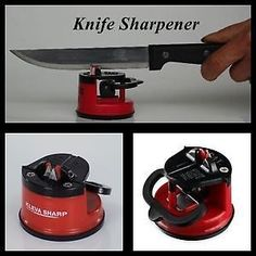 Excellent Knife Sharpener with Suction Pad With Firm Hold