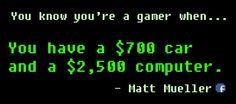 $700 Car, $2500 Computer