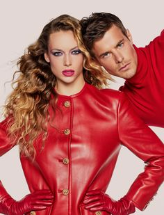 Hannah Ferguson, Moncler, American Apparel, Leather Gloves, Leather Jacket, Versace, Balenciaga, Fendi Dress, Monogram