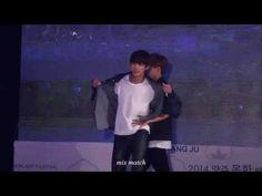 Bangtan Boys | 140921- Boy In Luv | V Focus | Yangju Festival (© mix match)(FANCAM) - love his little faces & gestures to his fans!!
