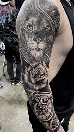 Sleeve and Hand Tattoos . Sleeve and Hand Tattoos . Pin by Samra Says On Tattoo Ideas 3 Tiger Tattoo Sleeve, Lion Tattoo Sleeves, Arm Sleeve Tattoos, Tattoo Sleeve Designs, Forearm Tattoo Men, Tattoo Designs Men, Hand Tattoos, Lion Head Tattoos, Tattoos Arm Mann