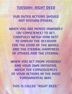 Soul Exercises: Tuesday- Right Deed. #rudolfsteiner