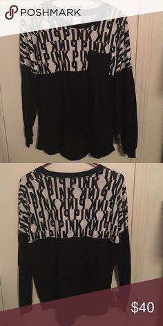 PINK LONG SLEEVE LONG SLEEVE GREAT CONDITION. Size small. PINK Victoria's Secret Tops Tees - Long Sleeve