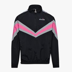 Diadora 5palle Track Top in Black retro 80s 90s tracksuit jacket