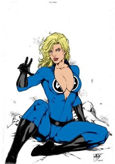 DeviantArt: More Like Invisible Woman_Colorart. Marvel Comic Character, Comic Book Characters, Comic Books Art, Comic Art, Marvel Comics Art, Marvel Vs, Marvel Heroes, Marvel Women, Marvel Girls