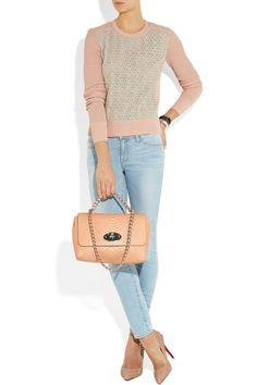 Mulberry | Cecily snake-effect leather shoulder bag | NET-A-PORTER.COM