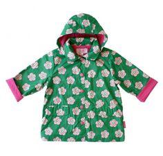 Toby Tiger Green Peaflower Raincoat