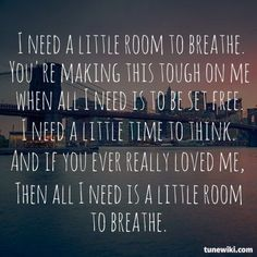 Room to breathe- you me at six