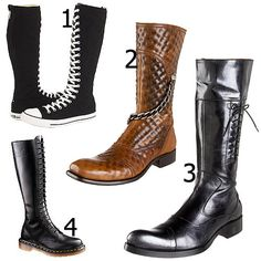 Knee high lace up boots for men | Shoes 2015 | Pinterest | High ...