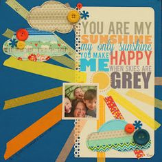 WIP Blog: Two more washi layouts... Love the clouds with washi tape!