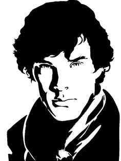 Face Stencils, Stencil Art, Sherlock Holmes, Tinta China, Shadow Art, Silhouette Art, Ink Illustrations, Gravure, Art Sketchbook