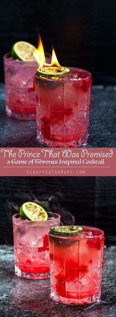 The Prince That Was Promised with Lightbringer Garnish - a Game of Thrones Cocktail #gameofthrones #cocktails